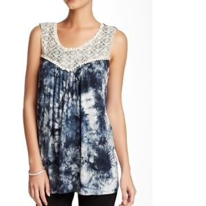 Everleigh Crocheted Trim Tie Dye Tank Top PM